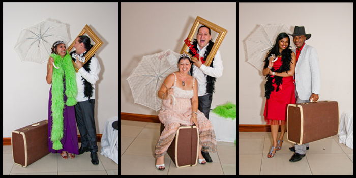 Photobooth with props at wedding reception