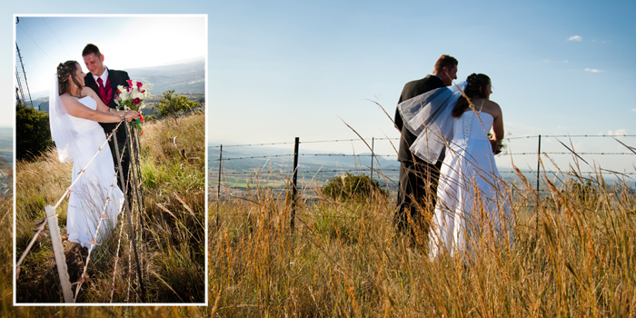 Top of the mountain wedding photography