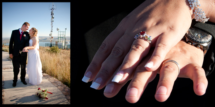 wedding photography - aerial cableway hartbeespoort