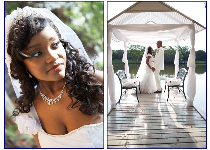 Bride and Groom at Tzaneen Eco River Lodge