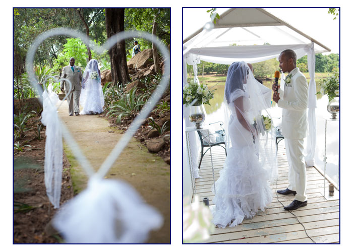 Bride walking down the aisl in Limpopo Province
