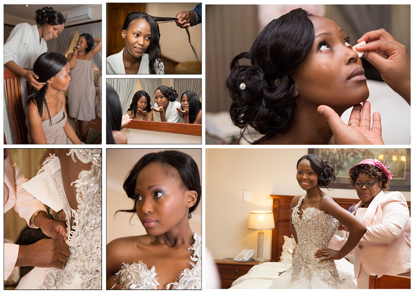 african bride getting ready