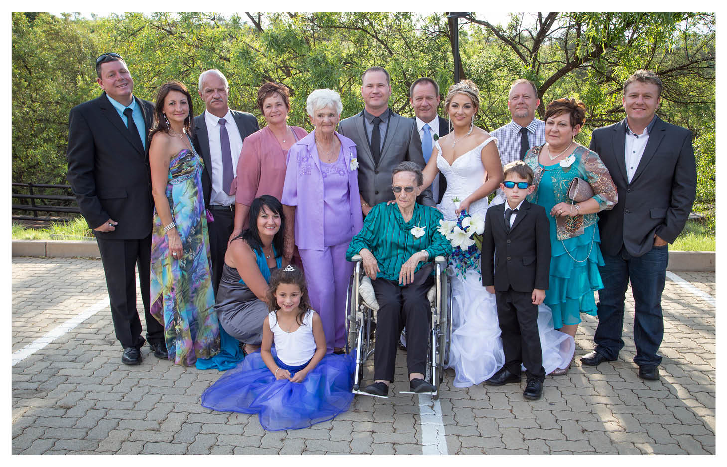 bride groom and family