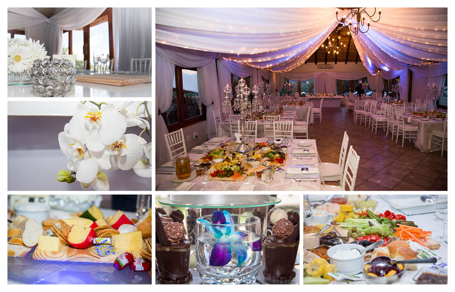 white and silver wedding detail photography at La Wiida Lodge