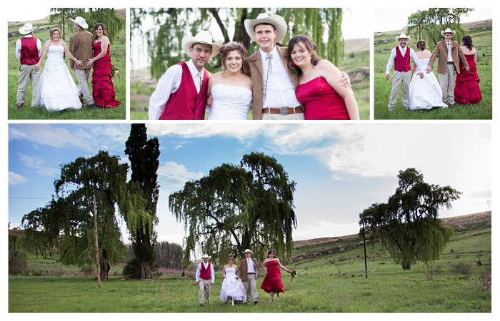 bride groom bridesmaids and groomsmen photography at Linwood Farm, Clarens