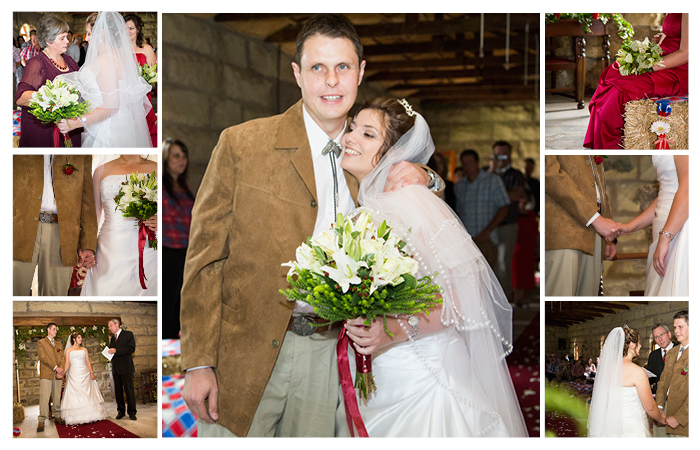 cowboy wedding ceremony at Linwood Farm, Clarens