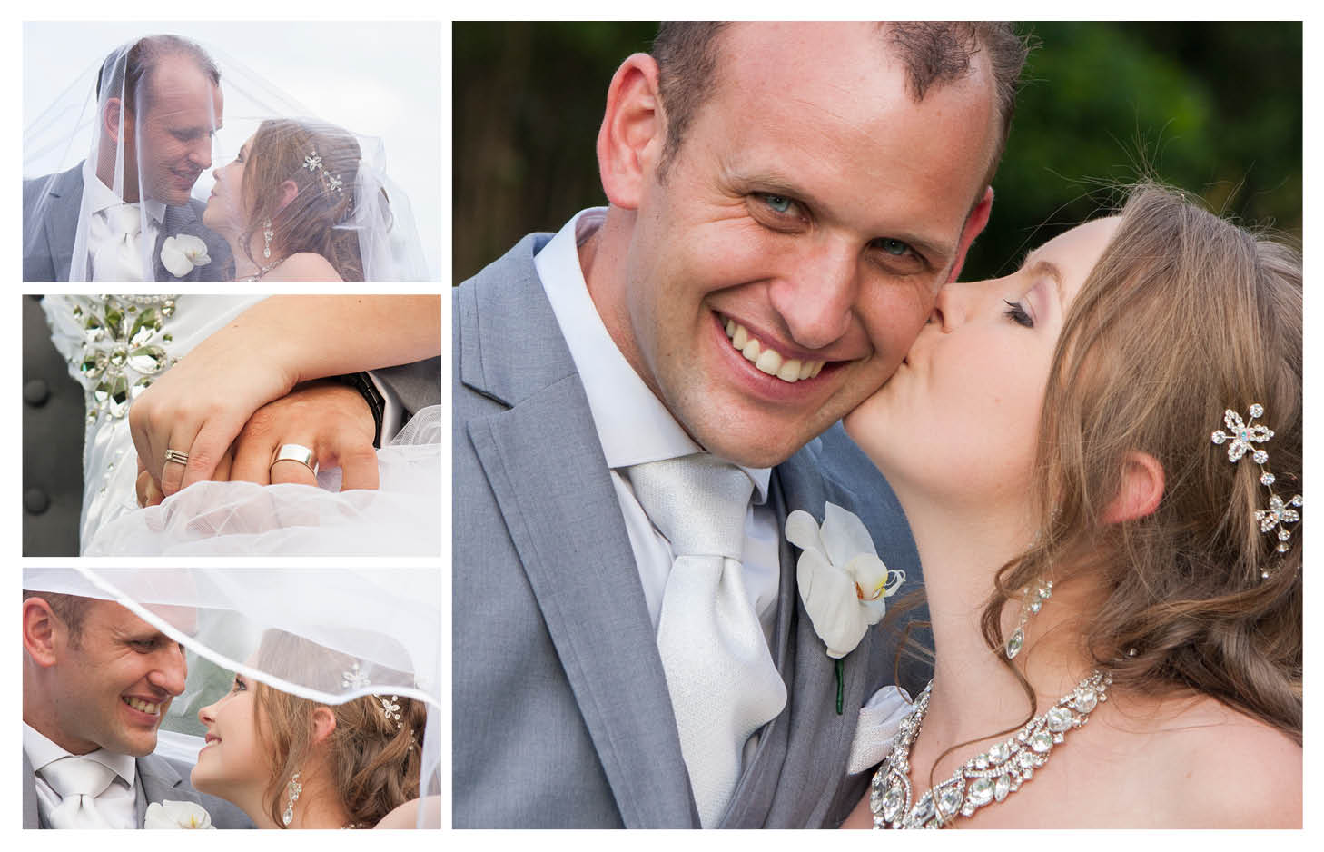 bride kissing smiling groom on cheek at the country club johannesburg