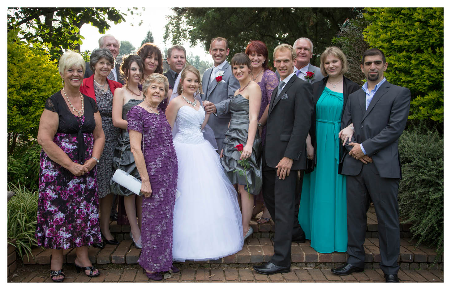 bride groom and family at the country club johannesburg
