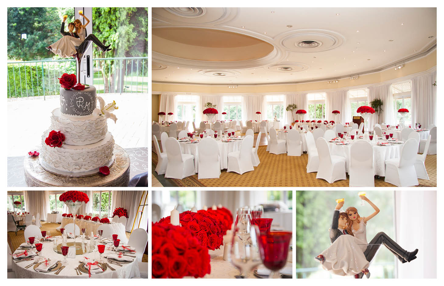 perfect white and red wedding detail photography at the country club johannesburg