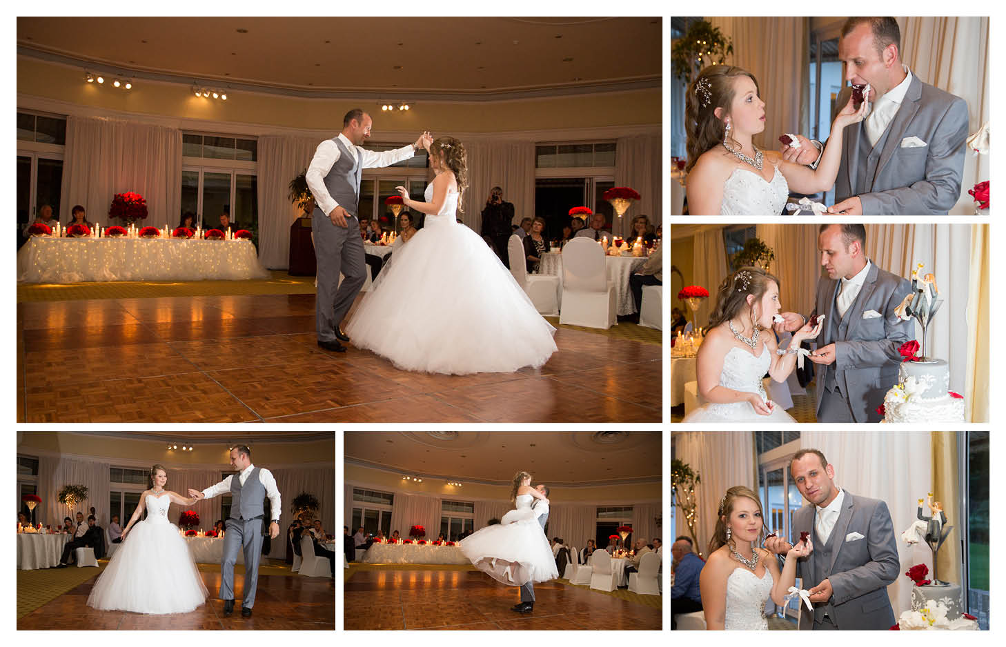 bride and groom first dance and cake cutting at the country club johannesburg