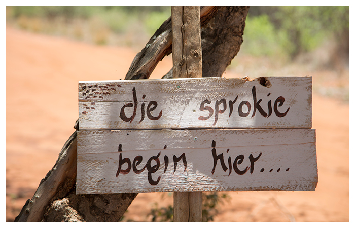 rustic vintage couple love afrikaans saying