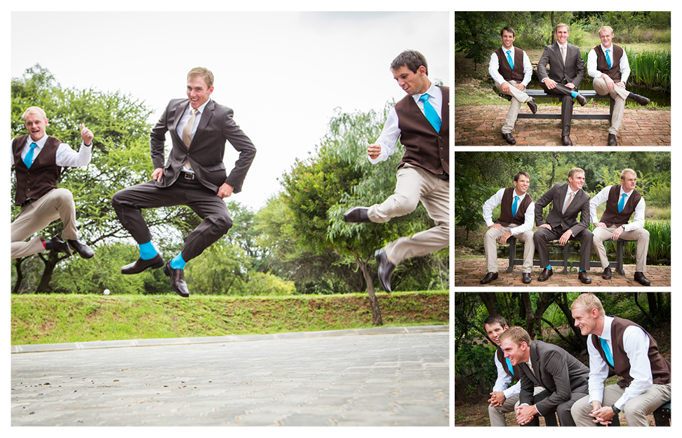 fun groom and groomsmen pose