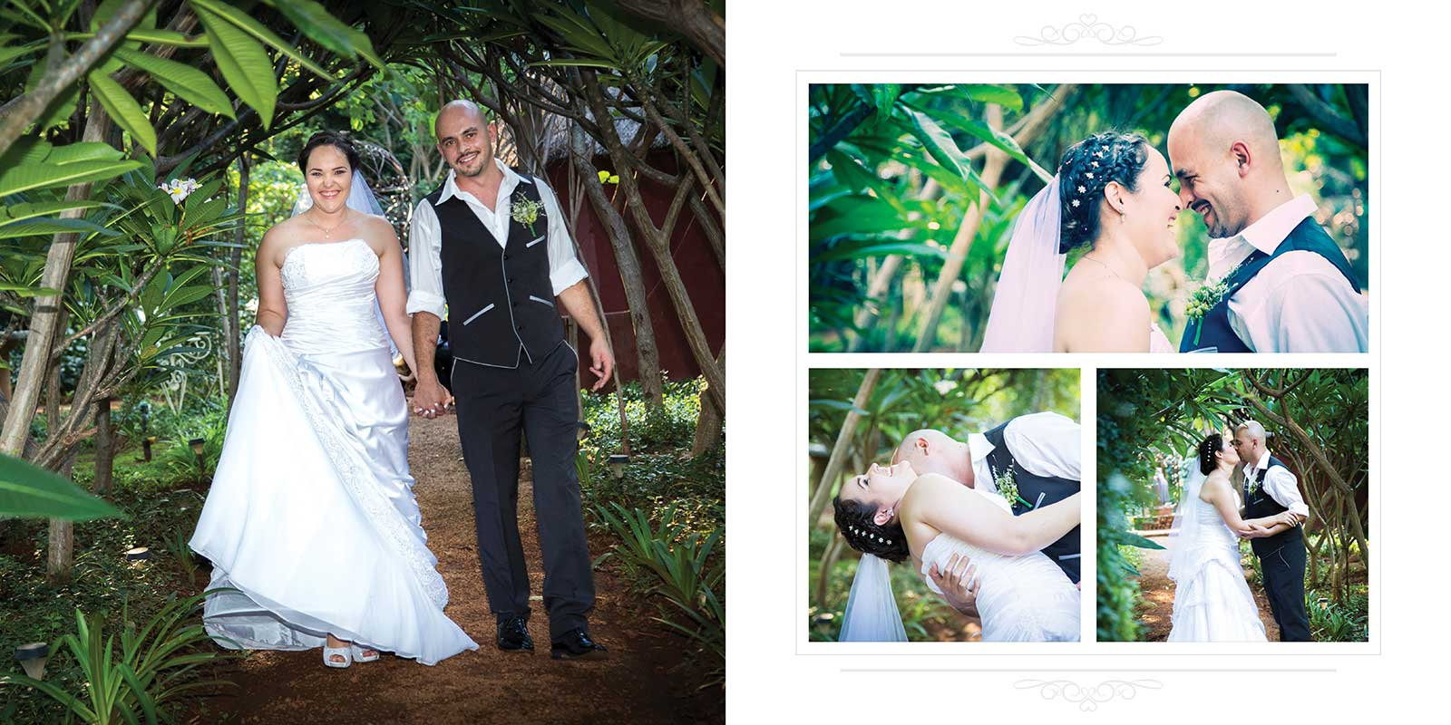 Wedding photography in garden