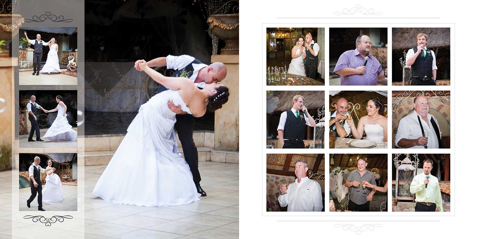 Dance floor opening at intimate bohemian wedding
