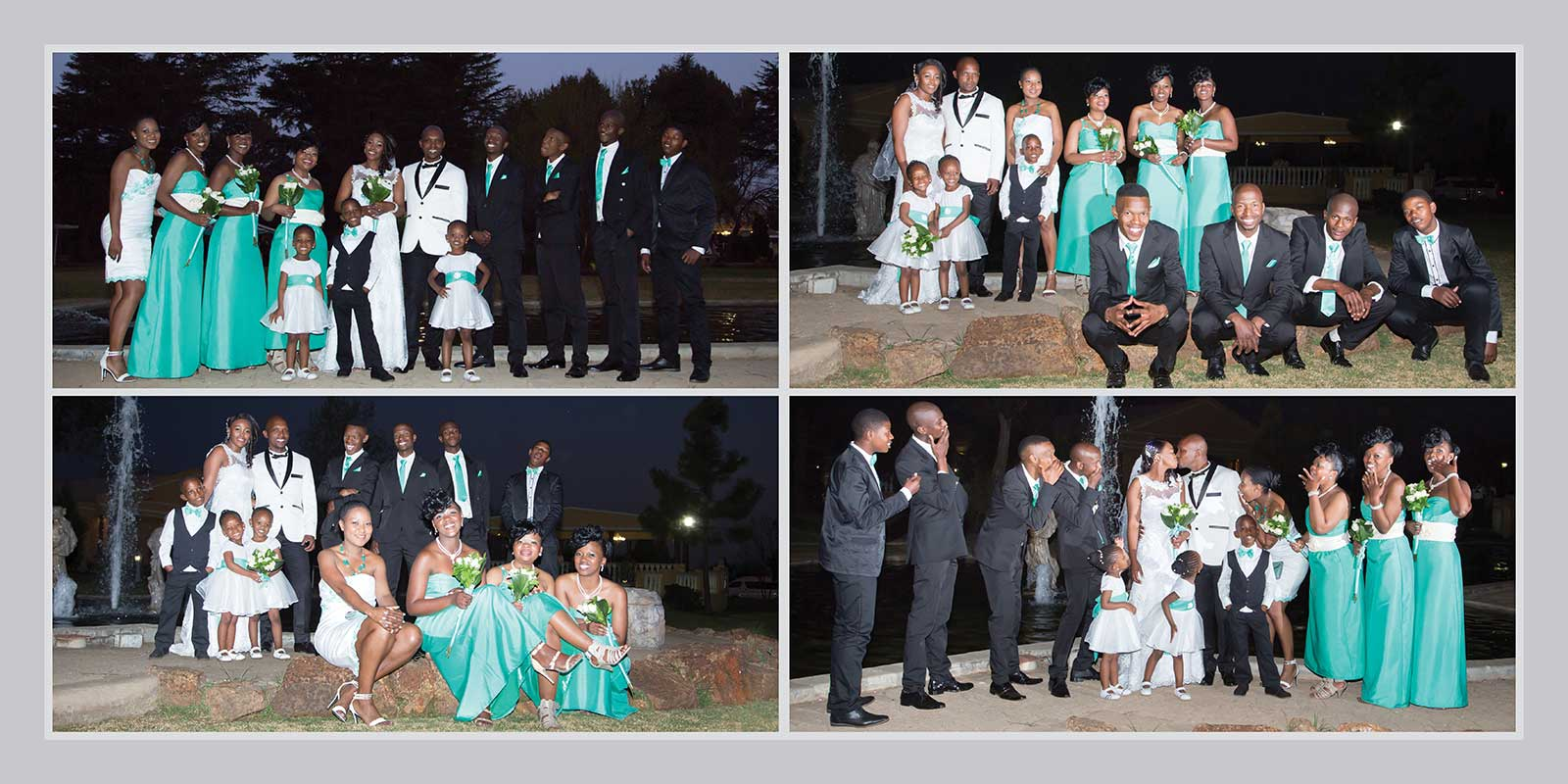 wedding party night photographs