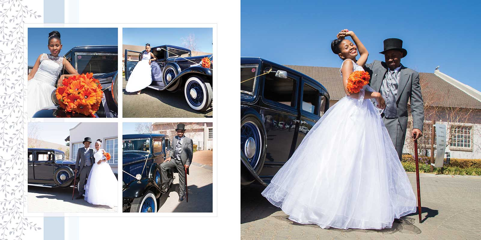 vintage wedding vehicle at Birchwood Hotel