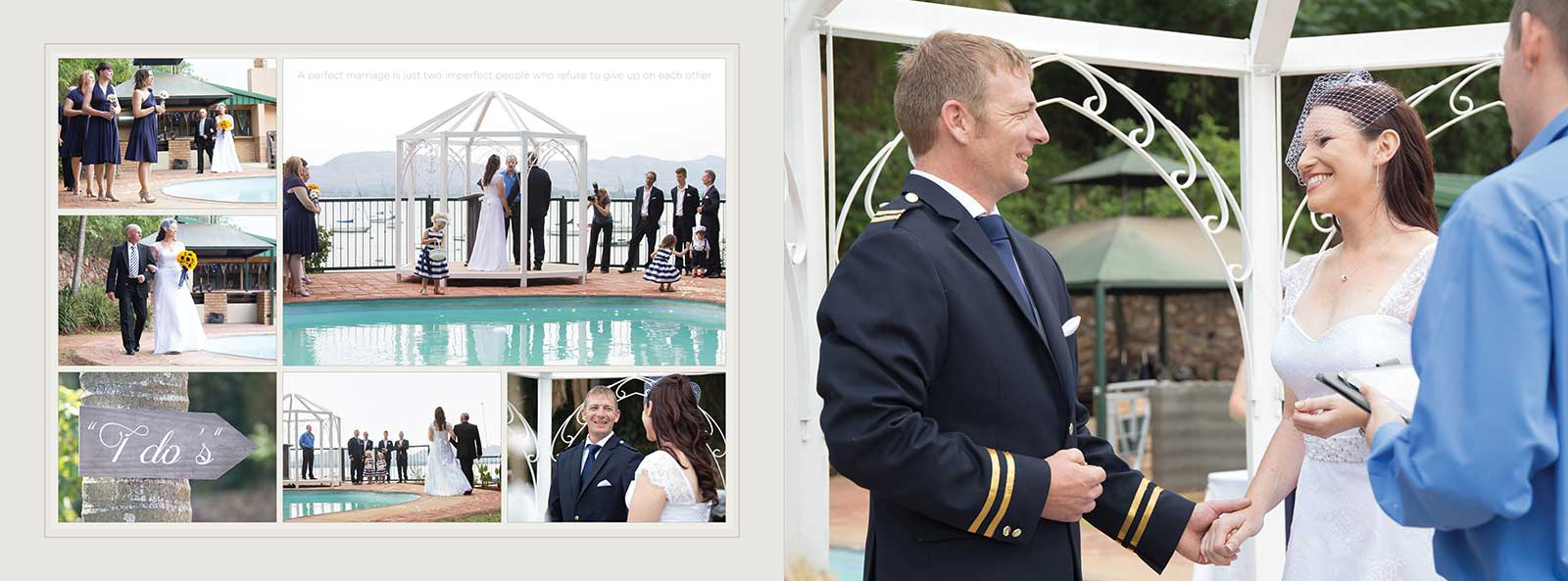 wedding ceremony at Transvaal Yacht Club